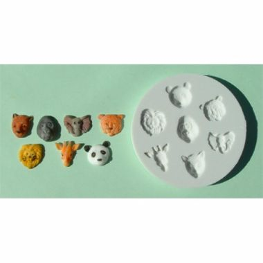 Alphabet Mould AM0019   Small Animal Heads
