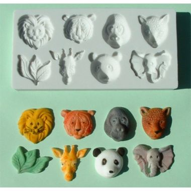 Alphabet Mould AM0021   Large Animal Heads