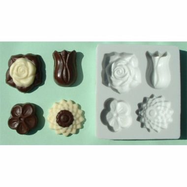 Alphabet Mould AM0027 - 4 in 1 Flowers