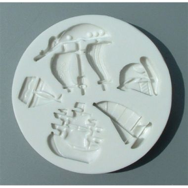Alphabet Mould AM0041 - Ships and Boats