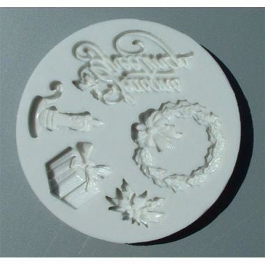 Alphabet Mould AM0045   Seasons Greetings
