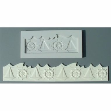 Alphabet Mould AM0046   Nautical Border
