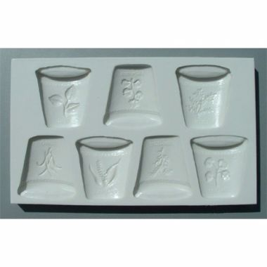 Alphabet Mould AM0047   Herb Pots