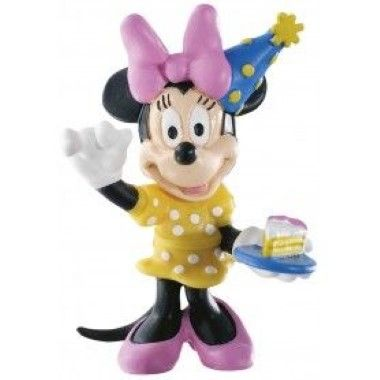 Bullyland -Mickey - Minnie Mouse with Cake