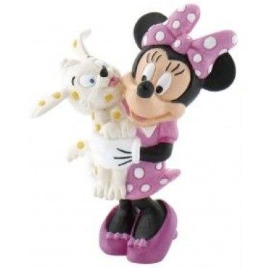 Bullyland -Mickey - Minnie Mouse with Puppy