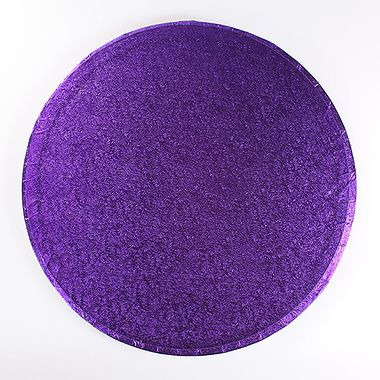 "10"" Round Cake Drum Silver Purple"