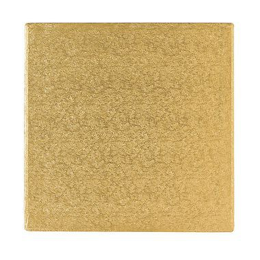 "10"" Square Cake Drum Gold"