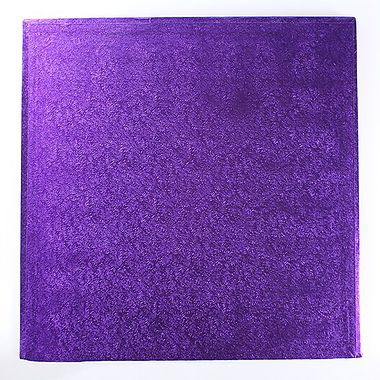 "12"" Square Cake Drum Purple"