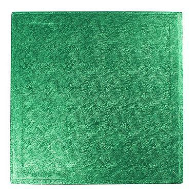 "14"" Square Cake Drum Green"