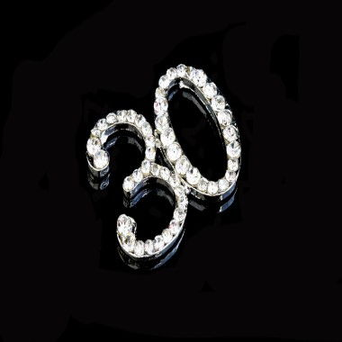 Diamante Design - 2cm Silver 30