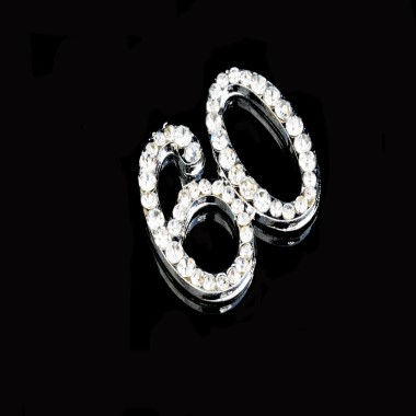 Diamante Design - 2cm Silver 60