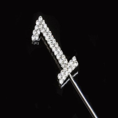 Diamante Design - 3.5cm Silver 1