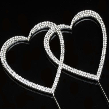 Diamante Design - Double Heart Large