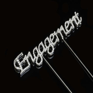 Diamante Design - Engagement Silver Large