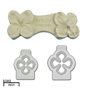 Diamond Paste   Flexi Cutter   Hyrdrangea Set of 2 and Veiner