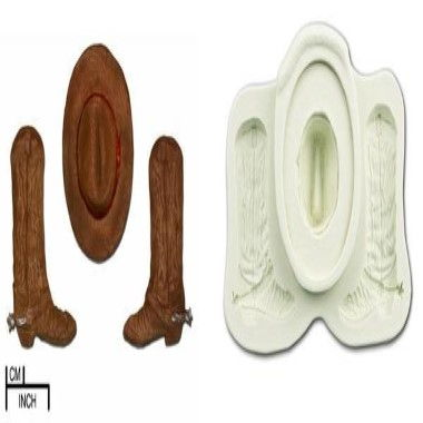 Diamond Paste - Mould - Cowboy Hat and Boots