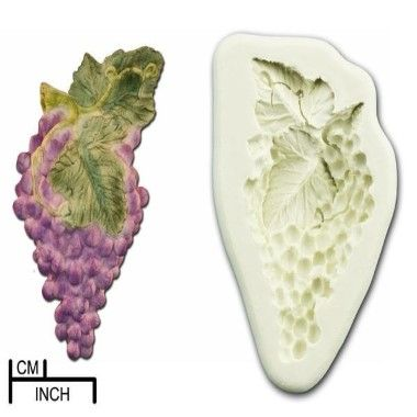 Diamond Paste - Mould - Grapes with Leaves