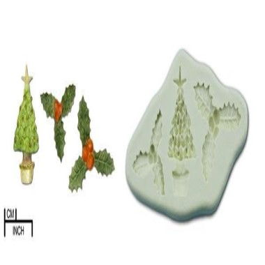 Diamond Paste - Mould - Holly/Christmas Tree