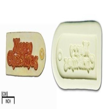 Diamond Paste - Mould - Merry Christmas Label
