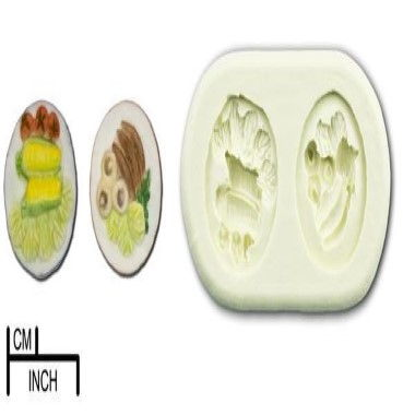 Diamond Paste - Mould - Mini Fruit and Veg Plates