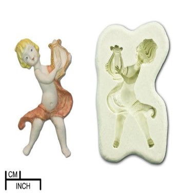 Diamond Paste - Mould - Musical Cherub with Harp Large