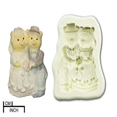 Diamond Paste - Mould - Teddy Bride and Groom