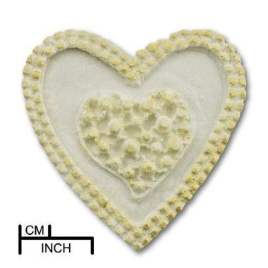 Diamond Paste - Mould - Jewelled Twin Hearts