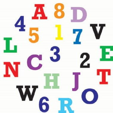 FMM - Alphabet and Number Set Upper Case