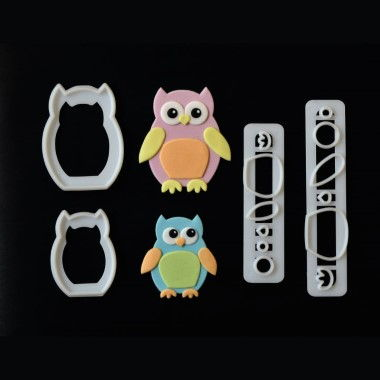 FMM - Mummy and Baby Owl Cutter