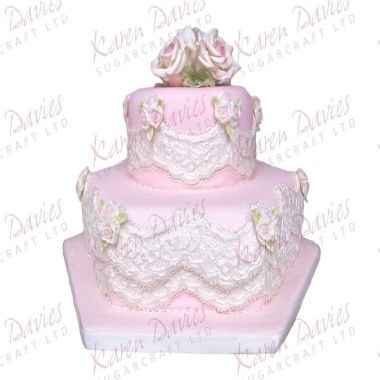 Remarkable Karen Davies Moulds Alice Vintage Lace One Stop Cake Shop Personalised Birthday Cards Veneteletsinfo