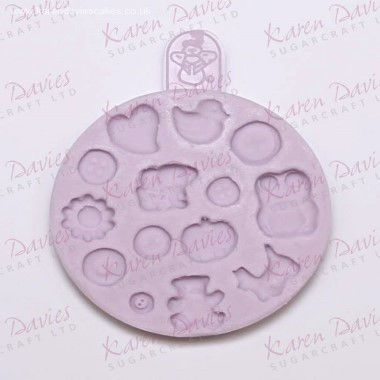 Karen Davies - Moulds - Baby Button Mould