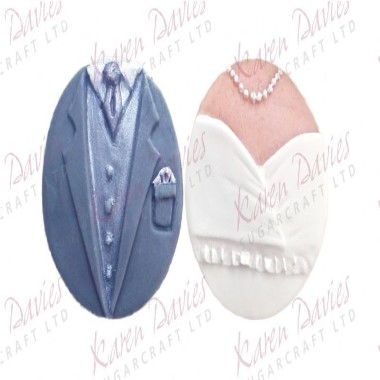 Karen Davies - Moulds - Bride and Groom Cupcake Set