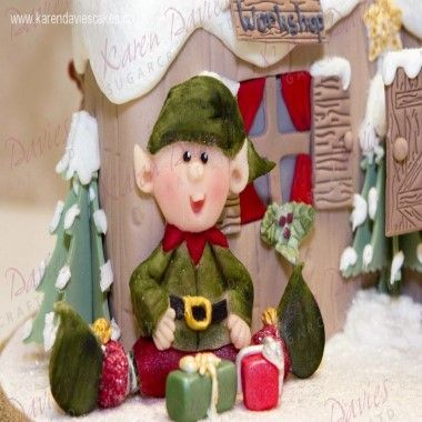 Karen Davies - Moulds - Sitting Elf