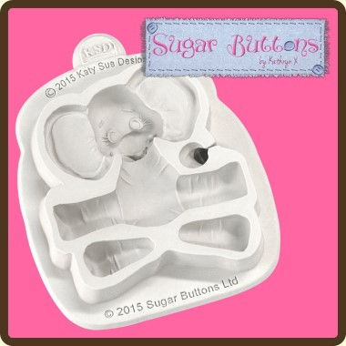 Katy Sue - Moulds - Sugar Buttons Baby Elephant