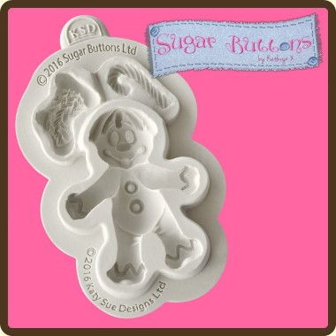 Katy Sue - Moulds - Sugar Buttons Gingerbread Man