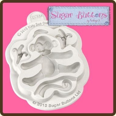 Katy Sue - Moulds - Sugar Buttons Monkey
