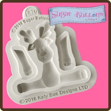 Katy Sue - Moulds - Sugar Buttons Reindeer