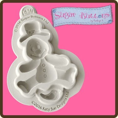 Katy Sue - Moulds - Sugar Buttons Snowman