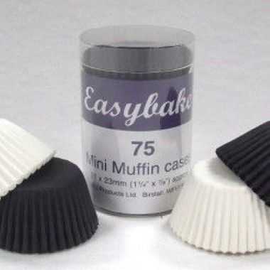 N J Products - Black and White Mini Muffin Cases