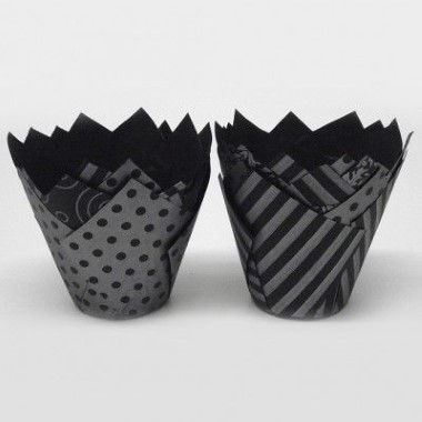 N J Products - Black and Silver Vogue Tulip Muffin Wraps