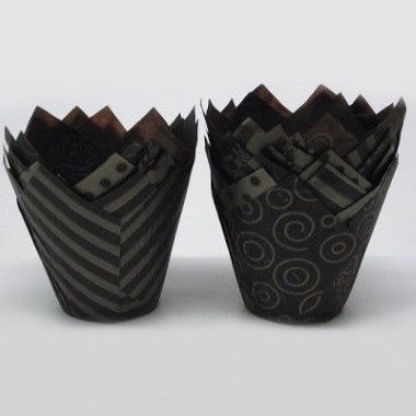 N J Products - Brown and Gold Vogue Tulip Muffin Wraps