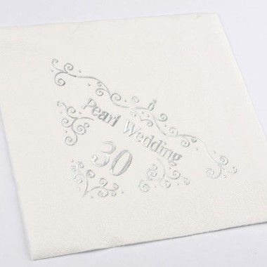 N J Products   Pearl 30th Anniversary Napkins