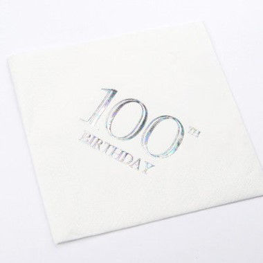 N J Products   100th Birthday Napkins