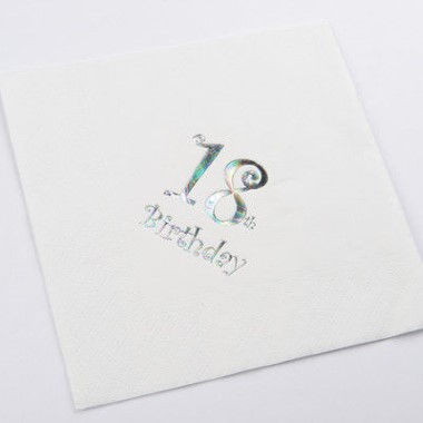 N J Products   18th Birthday Napkins