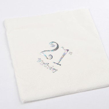 N J Products   21st Birthday Napkins