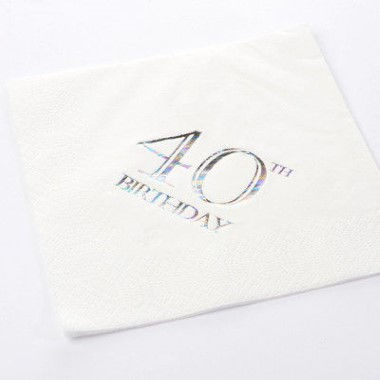 N J Products   40th Birthday Napkins