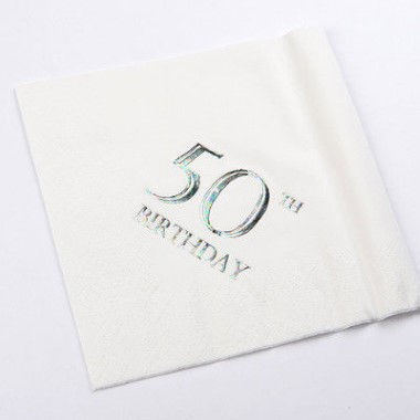 N J Products   50th Birthday Napkins