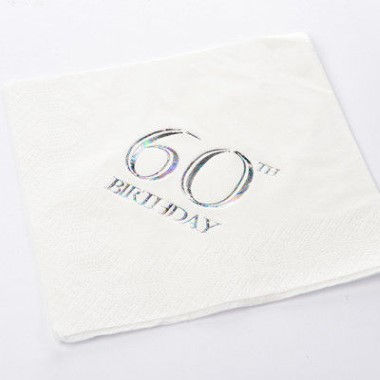 N J Products   60th Birthday Napkins