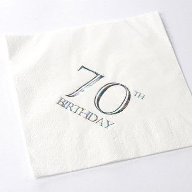 N J Products   70th Birthday Napkins