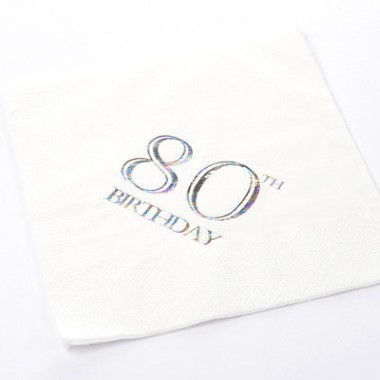 N J Products   80th Birthday Napkins